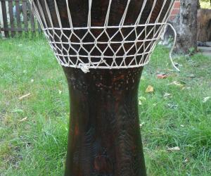 Басовая деревянная дарбука